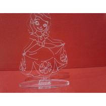 Souvenir Princesa Sofia En Acrilico X 10 Unidades