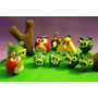 Angry Birds Porcelana Fria Maquetas Brochetes Souvenirs