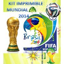 Kit Imprimible Mundial 2014!!! Fuleco Futbol Cumpleaños!!!