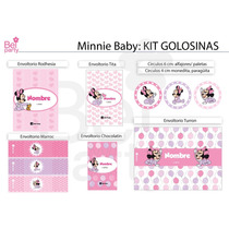 Kit Imprimible Baby Minnie Bebe Candy Bar Cumpleaños