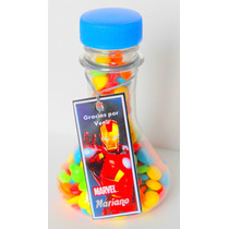 Souvenirs Envase Quimico Loco Vacíos Candy Bar X 10 Unidades