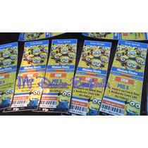 Tarjetas De Invitaciones X 10 Unidades Minions