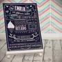 Cartel Pizarra Primer Año Impreso En Opalina