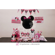 Kit Imprimible Minnie Candy Bar Cumpleaños