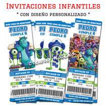 Monster University Cumpleaños 25 Invitaciones /cartel Regalo