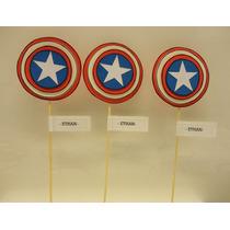 Capitan America /avengers Super Heroes Souvenirs En Goma Eva