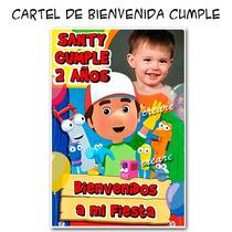 Manny A La Obra Cartel De Bienvenida Con Tu Foto Lindisimo!!