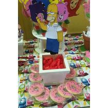 Homero Los Simpsons Centro De Torta Goma Eva
