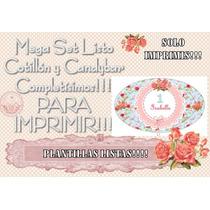 Cotillon Para Imprimir + Candybar 50 Años Bodas Romantico