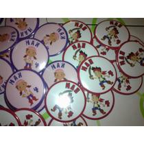 Pins Botones Souvenirs Cumpleaño Jake Izzy Garfio Pirata X25