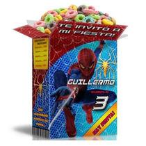 Mega Kit Imprimible Spiderman Textos 100% Editables 2x1
