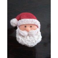 Caritas De Papa Noel En Porcelana Fria Adornos Navideños