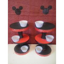 Porta Cup Cake 3 Pisos Entran De 12 A 18 Unidades Mini Mouse