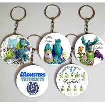 Llavero Monster University Pins X10souvenirs Cumpleaños 55mm