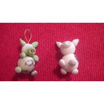 Par De Miniaturas De Porcelana