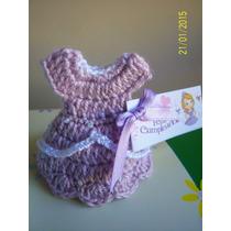 Souvenirs Vestiditos Princesita Sofia Tejidos Al Crochet