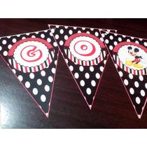 Banderín Personalizado Mickey Mouse