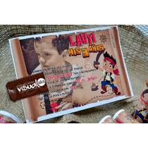Invitacion Jake Y Los Piratas Tipo Pergamino