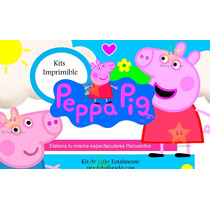 Kit Imprimible Peppa Pig La Cerdita + Candy Bar
