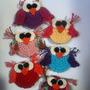 Souvenirs Lechuzas Imanes Portapapeles Crochet