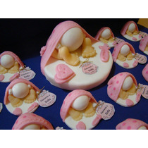 Souvenirs Bebes En Porcelana Fria Nacimiento Bautismo