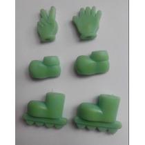 Accesorios Para Armar Souvernirs - Manos - Rollers - Zapatos