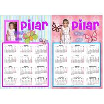 2 Almanaques Personalizados Cumpleaños Candy Bar Con Foto