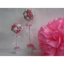 Arbolitos Topiarios Con Flores