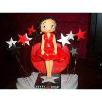 Adorno Para Torta En Porcelana Fría Betty Boop