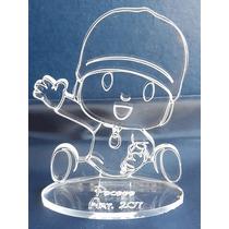 Souvenir Pocoyo En Acrilico 8cm X 6cm Grabado Laser Art 207