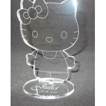 Souvenir Hello Kittie En Acrilico C/ Nombre Y Fecha Grabado
