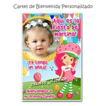 20 Tarjetas Invitaciones Infantiles Cumple + Cartel Con Foto