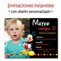 Mickey Mouse 25 Invitaciones Personalizadas + Cartel Regalo!