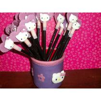 Souvenirs Kitty Lapices Con Portalapiz