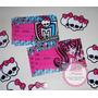 Invitaciones Cumple Monster High, Frozen, Winx X12 Unidades