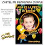 Bart Simpson Cartel De Bienvenida Cumpleaños Con Tu Foto