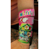 Souvenir Pulsera Retractile Kitty Angry Mickey Personalizada