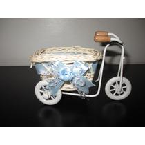 Mini Bicicletas Mimbre Souvenir Decoración