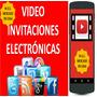 Tarjeta Invitacion Digital Animada Kit Cumpleaños Personajes