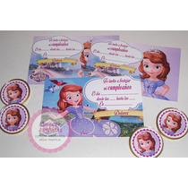 Invitaciones Cumple Princesa Sofia X12 Unidades
