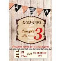 Tarjeta Invitación Cumpleaños Infantil Pirata Original!