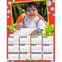 6 Almanaques Personalizados Cumpleaños Candy Bar Con Foto