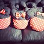 10souvenirs Almohadones Porta Pijama Mickey Minnie Stock