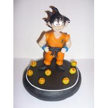 Dragon Ball Goku Adorno Torta Souvenir En Porcelana Fria