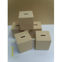 Alcancías Fibrofacil-mdf-listas Para Pintar-souvenirs-$8 C/u