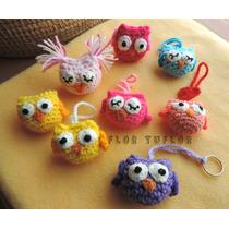 Souvenirs Tejidos Al Crochet Pack X 10 Buho Lechuza Colgante