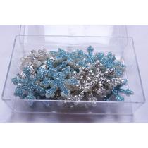 Copos De Nieve Porcelana Fria Glitter - Frozen