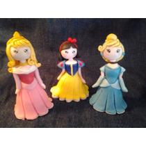 Princesas Disney Porcelana Fria. Adorno De Torta. Souvenirs