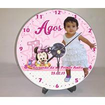 10 Reloj Cd Personalizado Gratis Pilas Y Atriles!!!