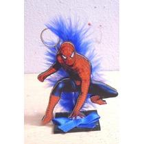 Hombre Araña En Fibrofacil Decorado!